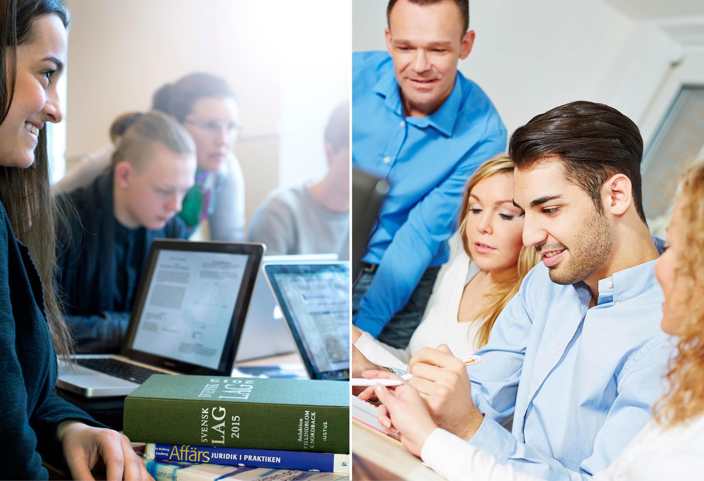 Juridikelever samt elever som studerar tillsammans