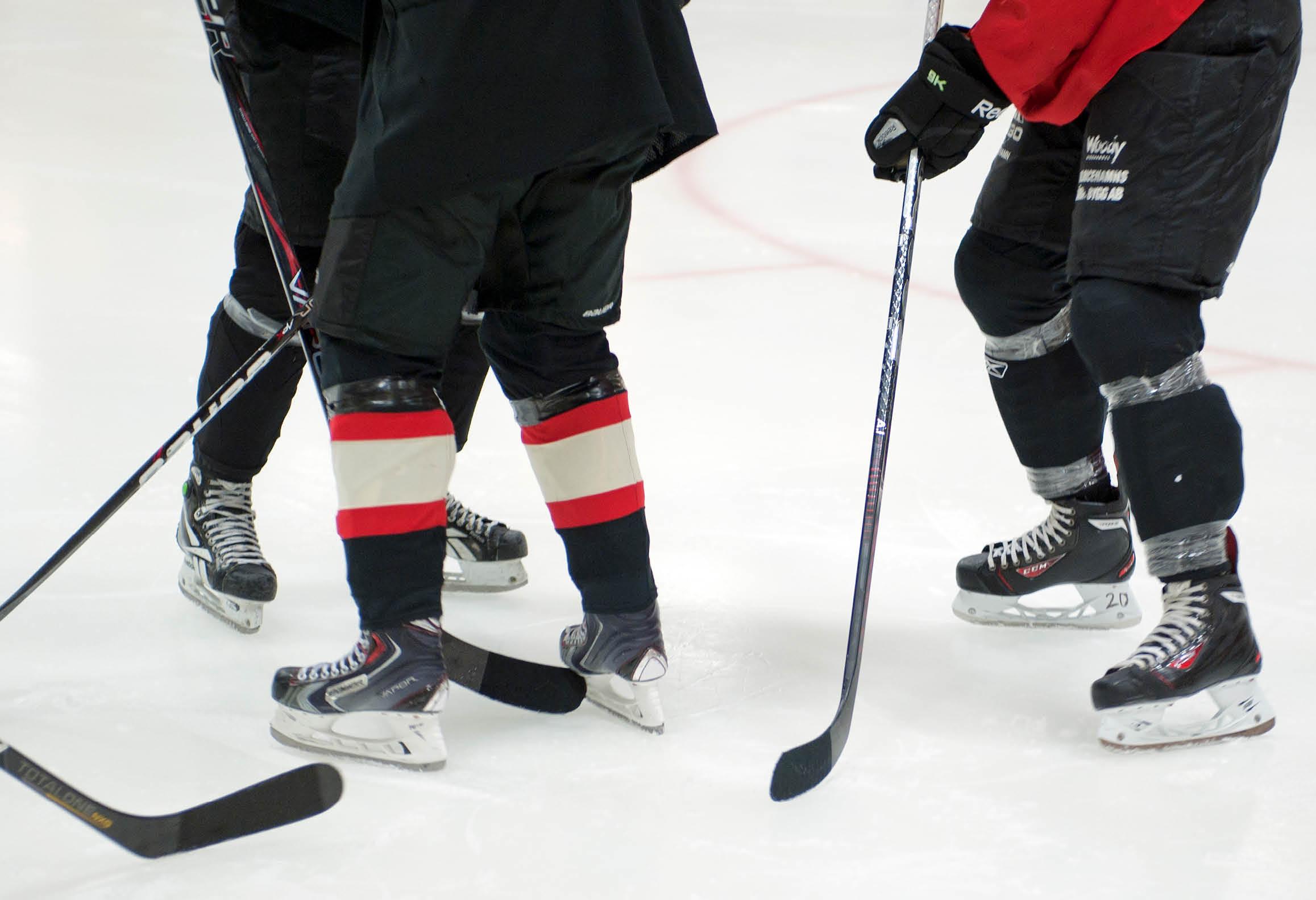 Hockeyspelare på is