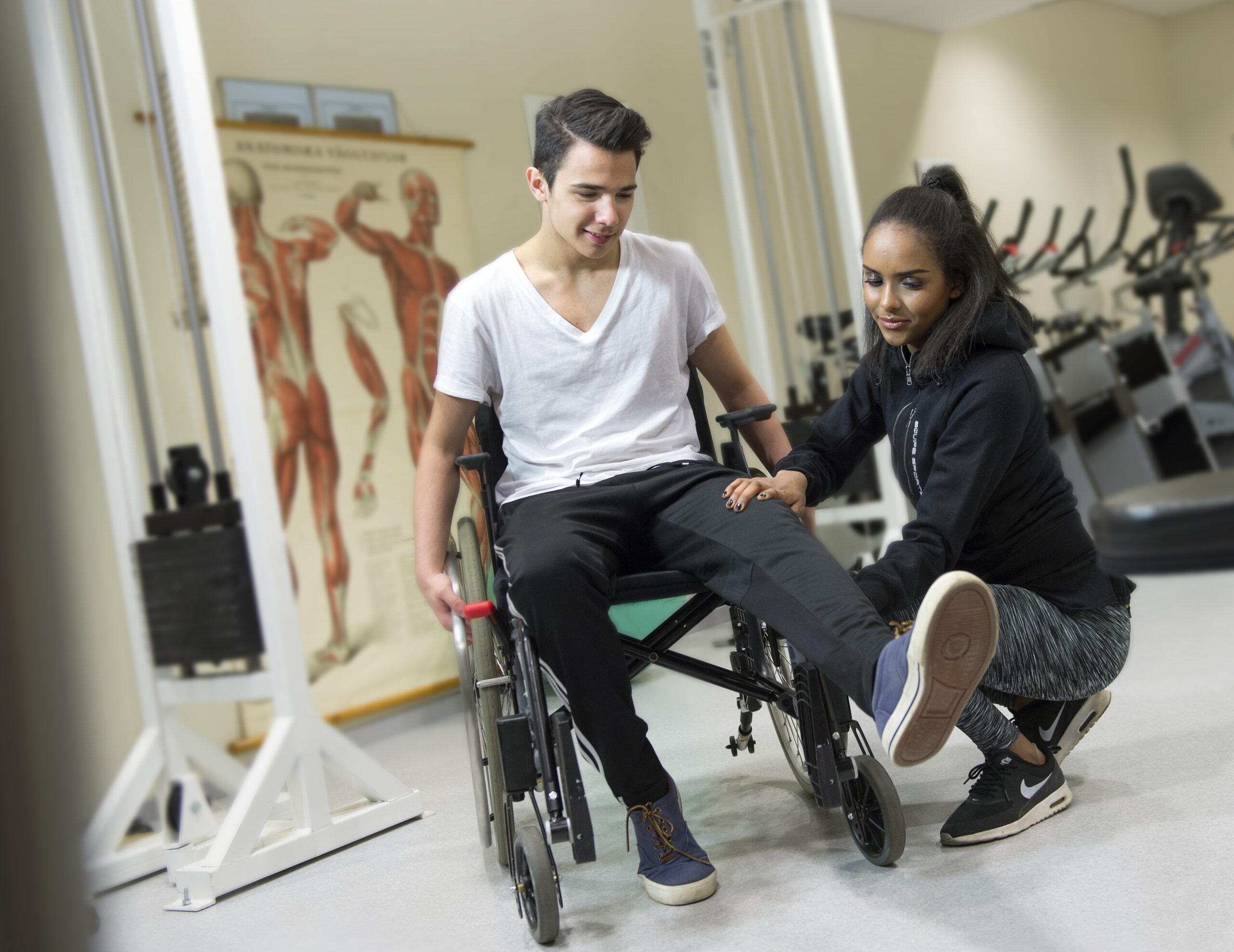 Rullstolsburen får träningshjälp